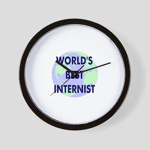 World's Best Internist Wall Clock