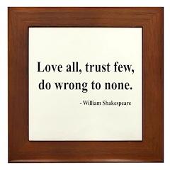 Shakespeare 4 Framed Tile