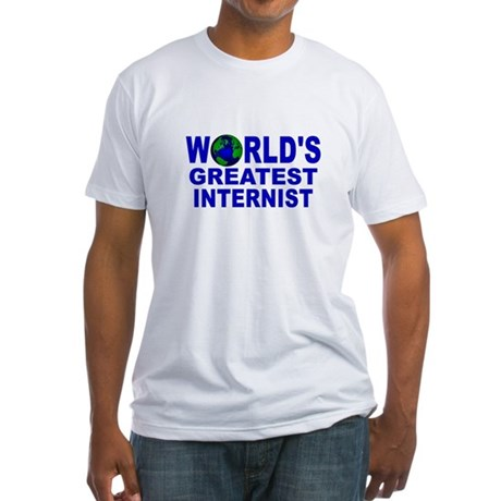 World's Greatest Internist Fitted T-Shirt