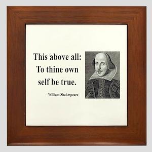 Shakespeare 5 Framed Tile