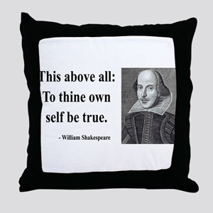 Shakespeare 5 Throw Pillow