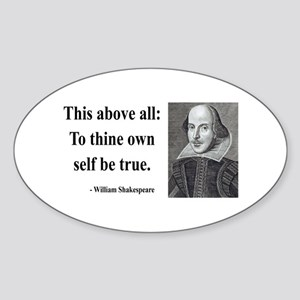 Shakespeare 5 Oval Sticker