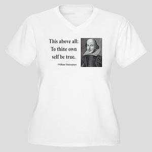 Shakespeare 5 Women's Plus Size V-Neck T-Shirt