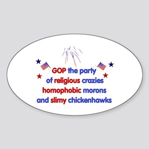 GOP Crazies Oval Sticker