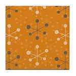 Atomic Orange Tile Coaster