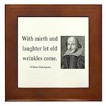 Shakespeare 9 Framed Tile
