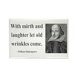 Shakespeare 9 Rectangle Magnet (100 pack)