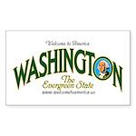 Washington Rectangle Sticker