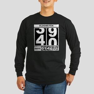 40th Birthday Oldometer Long Sleeve Dark T-Shirt