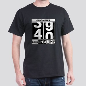 40th Birthday Oldometer Dark T-Shirt
