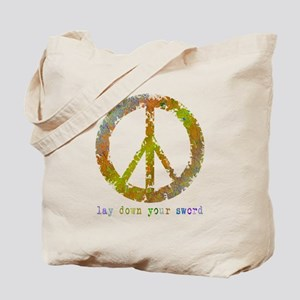 Lay Down Your Sword Tote Bag