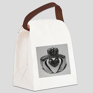 Ireland Heart You Claddagh Canvas Lunch Bag