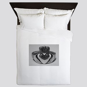Ireland Heart You Claddagh Queen Duvet