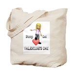 Stomp Out Valentines Day Tote Bag