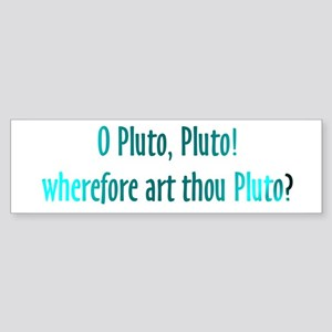 Pluto Isn't a Planet Astronomy Bumper Sticker
