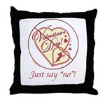 Anti Vday Throw Pillow