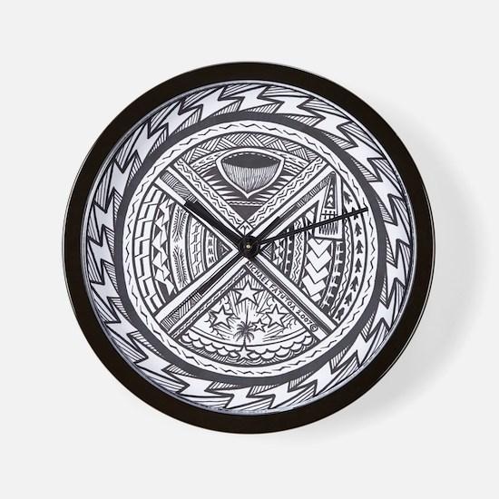 sacred center tattoo seal Wall Clock