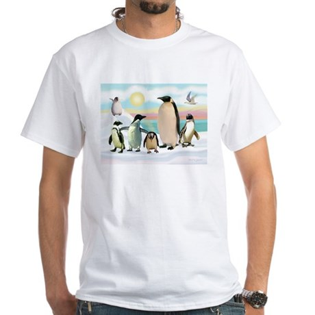 The Penguin Party White T-Shirt