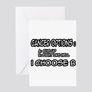 """""""Cancer Options"""" Greeting Card"""