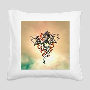 Wonderful dragon, tribal design Square Canvas Pill