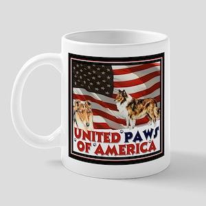 """United paws..."" Collie Mug"