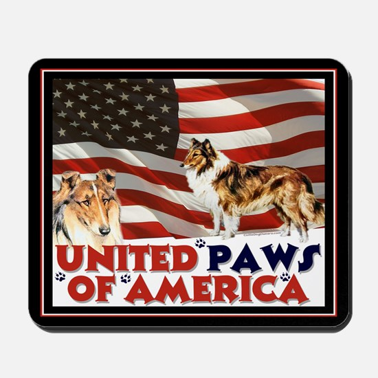 """United paws..."" Collie Mousepad"