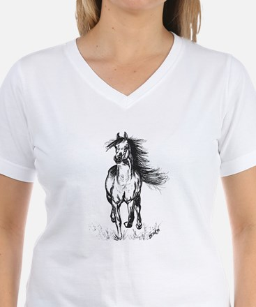 Runner Arabian Horse Women's Cap Sleeve T-Shirt