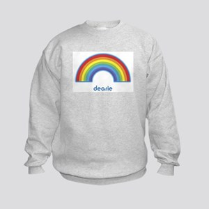 dearie (rainbow) Kids Sweatshirt