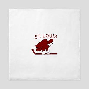 Vintage NHL logos - St. Louis Eagles Queen Duvet