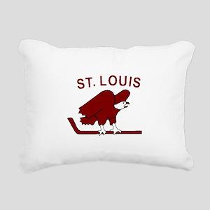 Vintage NHL logos - St. Rectangular Canvas Pillow