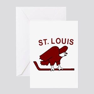 Vintage NHL logos - St. Louis Eagle Greeting Cards