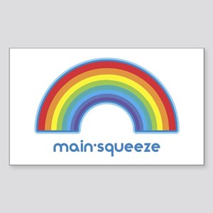 main-squeeze (rainbow) Rectangle Sticker