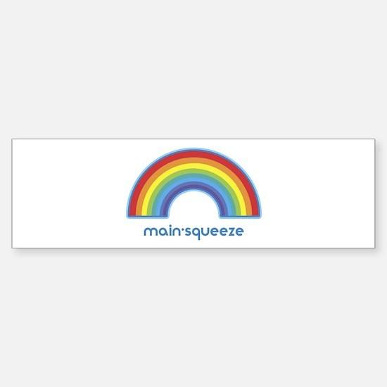 main-squeeze (rainbow) Bumper Car Car Sticker
