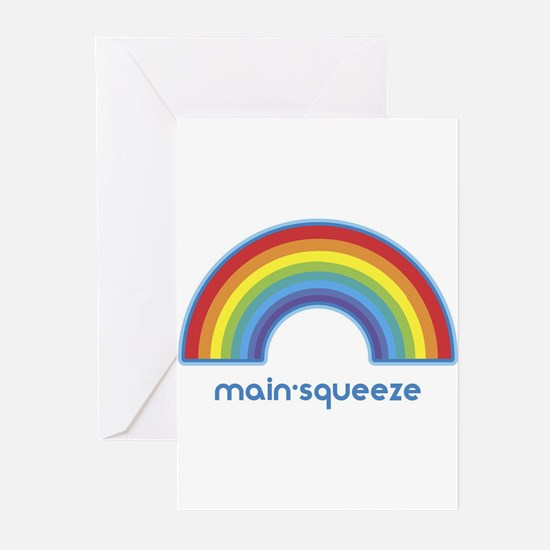 main-squeeze (rainbow) Greeting Cards (Pk of 10)