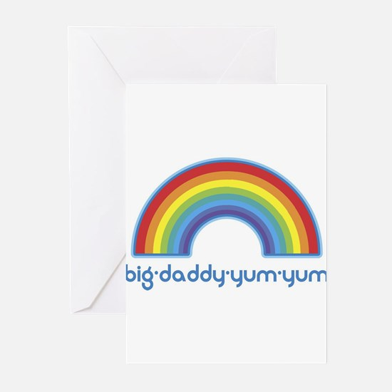 big-daddy-yum-yum (rainbow) Greeting Cards (Pk of