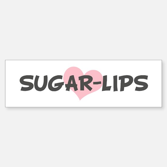 SUGAR-LIPS (pink heart) Bumper Bumper Bumper Sticker