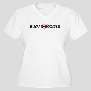 SUGAR-BOOGER (pink heart) Women's Plus Size V-Neck