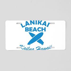 lanikai beach Aluminum License Plate