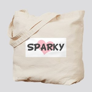 SPARKY (pink heart) Tote Bag