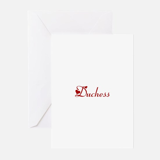 Duchess (hearts) Greeting Cards (Pk of 10)