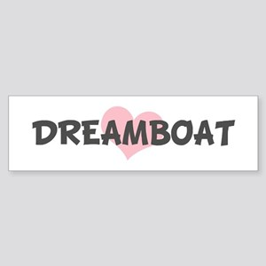 DREAMBOAT (pink heart) Bumper Sticker