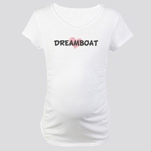 DREAMBOAT (pink heart) Maternity T-Shirt