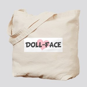 DOLL-FACE (pink heart) Tote Bag