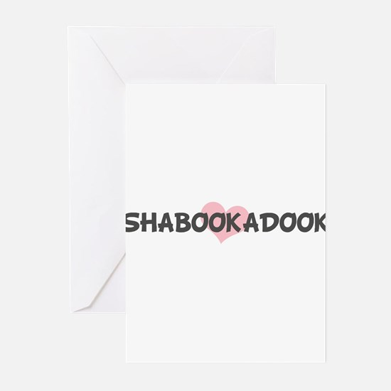 SHABOOKADOOK (pink heart) Greeting Cards (Pk of 10