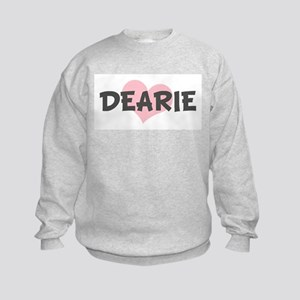 DEARIE (pink heart) Kids Sweatshirt