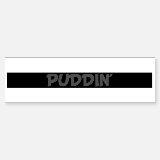PUDDIN` (pink heart) Bumper Car Car Sticker