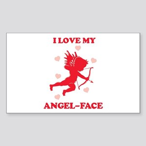 ANGEL-FACE (cherub) Rectangle Sticker