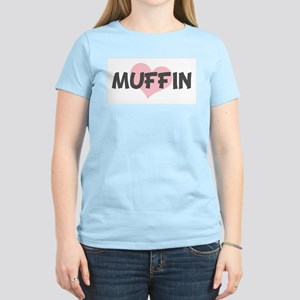 MUFFIN (pink heart) Women's Light T-Shirt