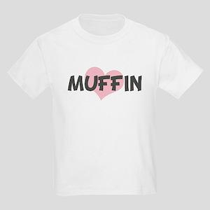 MUFFIN (pink heart) Kids Light T-Shirt