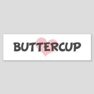 BUTTERCUP (pink heart) Bumper Sticker